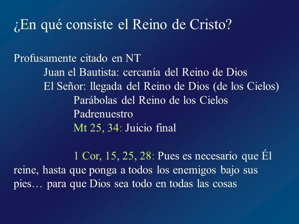 ¿En qué consiste el Reino de Cristo