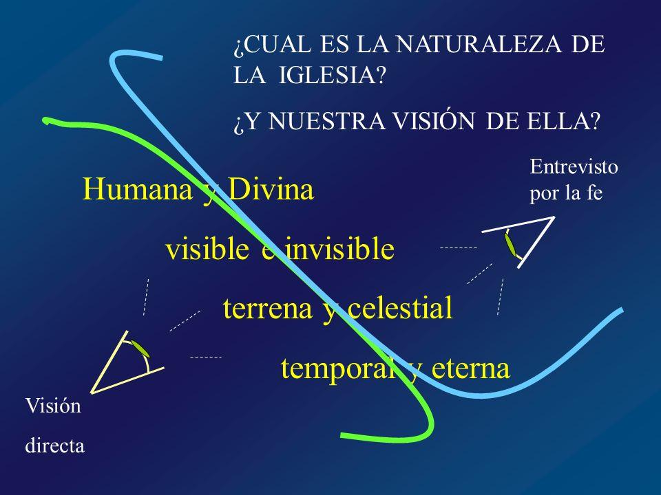 Humana y Divina visible e invisible terrena y celestial