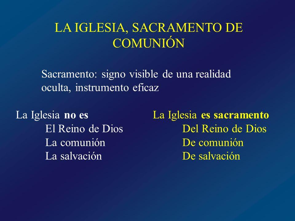 LA IGLESIA, SACRAMENTO DE COMUNIÓN
