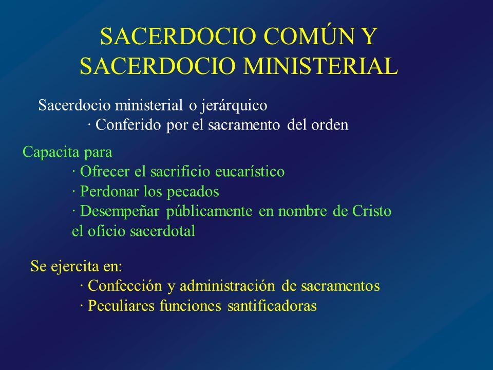 SACERDOCIO COMÚN Y SACERDOCIO MINISTERIAL