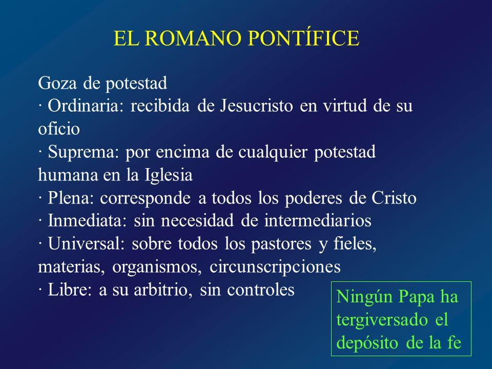 EL ROMANO PONTÍFICE Goza de potestad