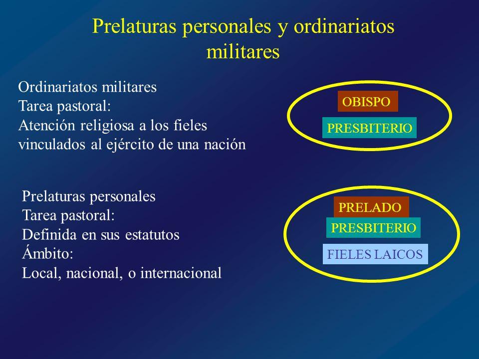 Prelaturas personales y ordinariatos militares