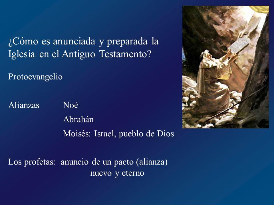 ¿Cómo es anunciada y preparada la Iglesia en el Antiguo Testamento