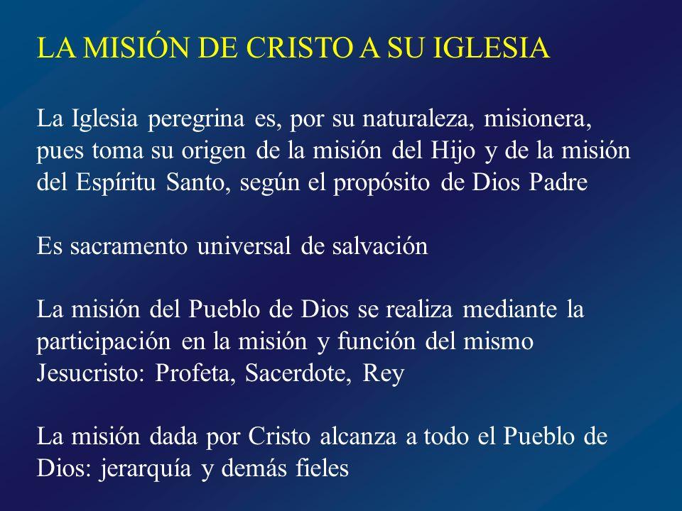 LA MISIÓN DE CRISTO A SU IGLESIA