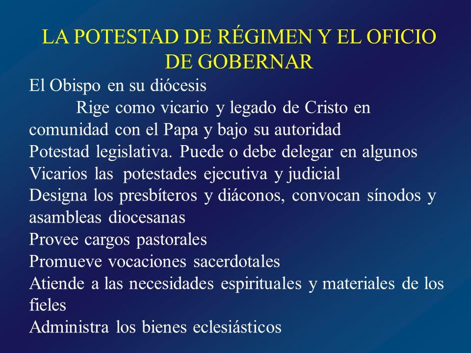 LA POTESTAD DE RÉGIMEN Y EL OFICIO DE GOBERNAR