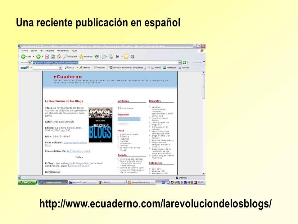 Una reciente publicación en español