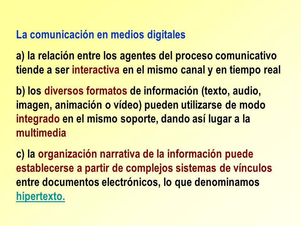 La comunicación en medios digitales