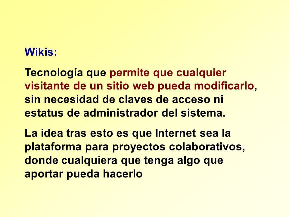Wikis:
