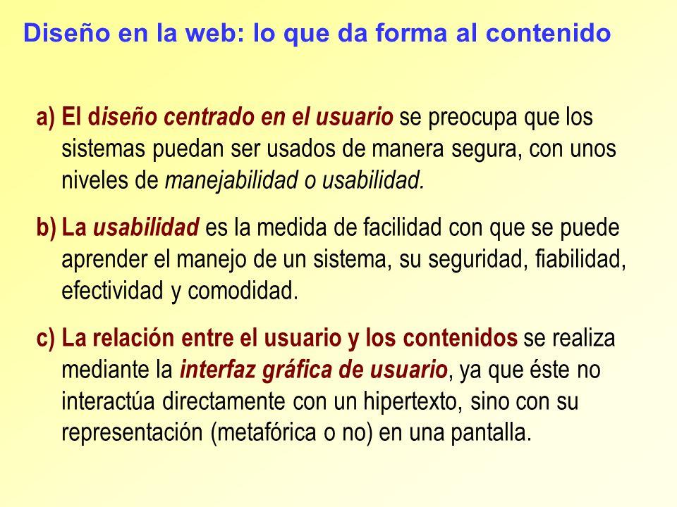 Diseño en la web: lo que da forma al contenido