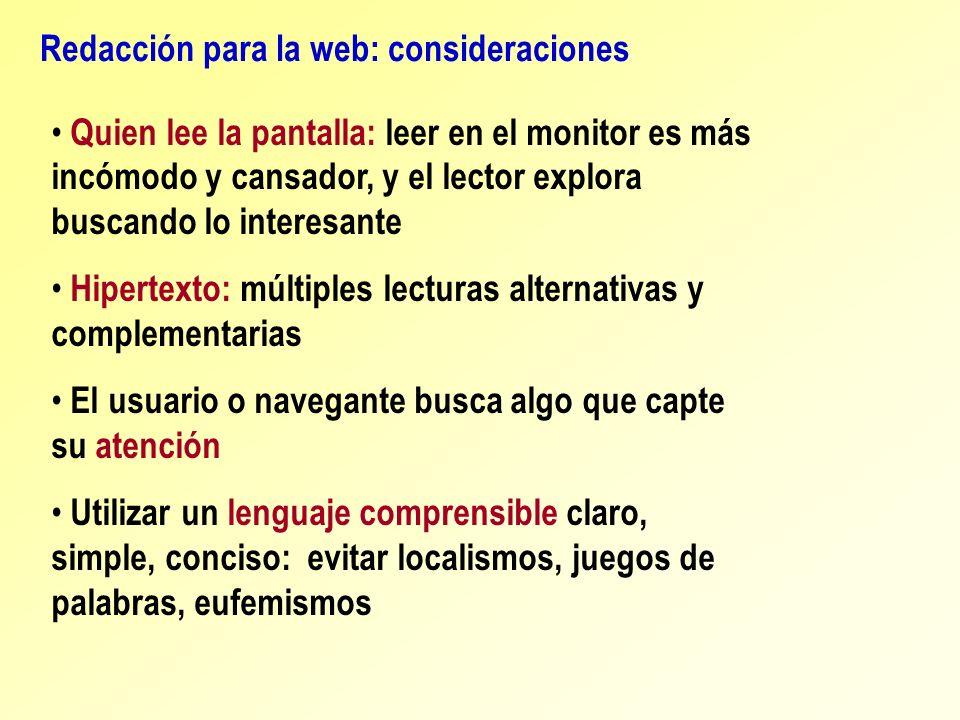 Redacción para la web: consideraciones