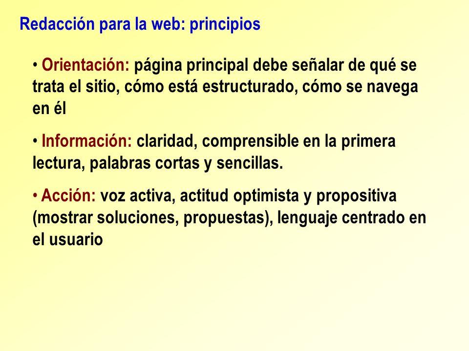 Redacción para la web: principios