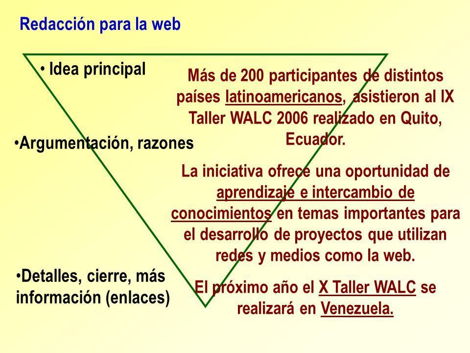 El próximo año el X Taller WALC se realizará en Venezuela.