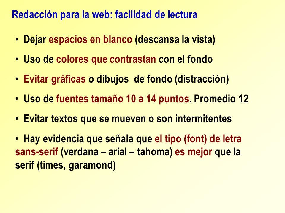 Redacción para la web: facilidad de lectura