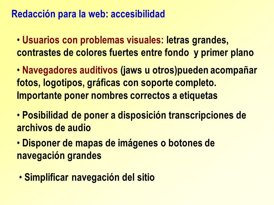 Redacción para la web: accesibilidad