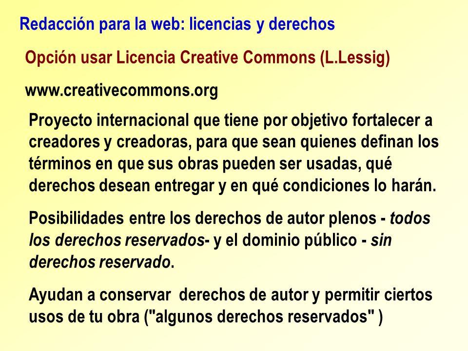 Redacción para la web: licencias y derechos