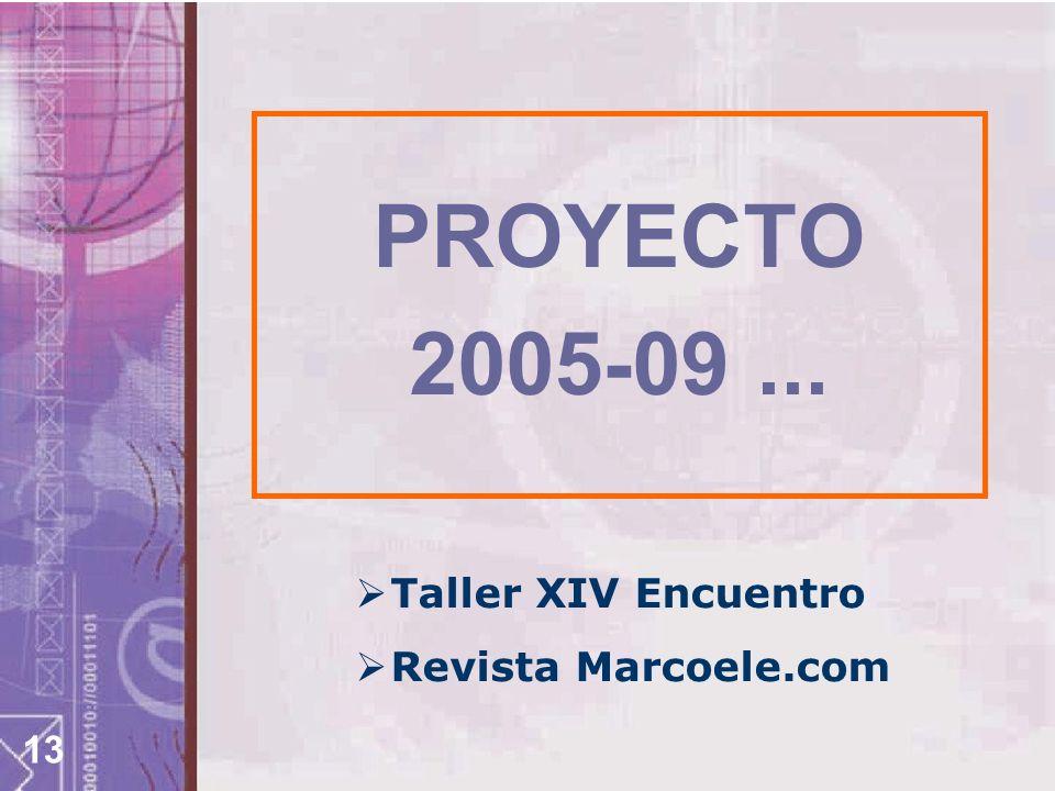 PROYECTO 2005-09 ... Taller XIV Encuentro Revista Marcoele.com