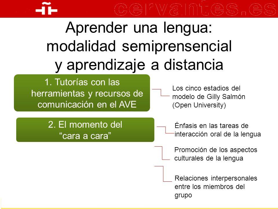 Tutorías con las herramientas y recursos de comunicación en el AVE