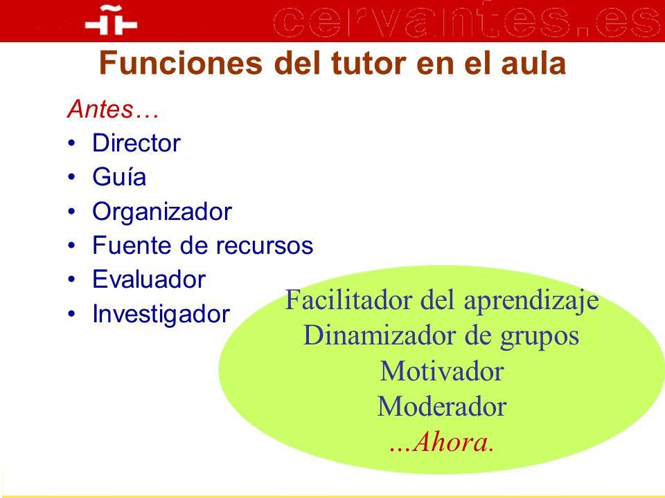 Funciones del tutor en el aula