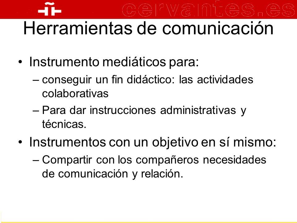Herramientas de comunicación