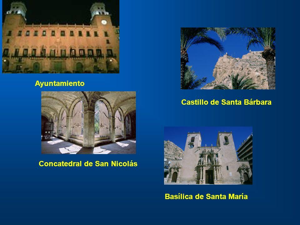 Ayuntamiento Castillo de Santa Bárbara Concatedral de San Nicolás Basílica de Santa María