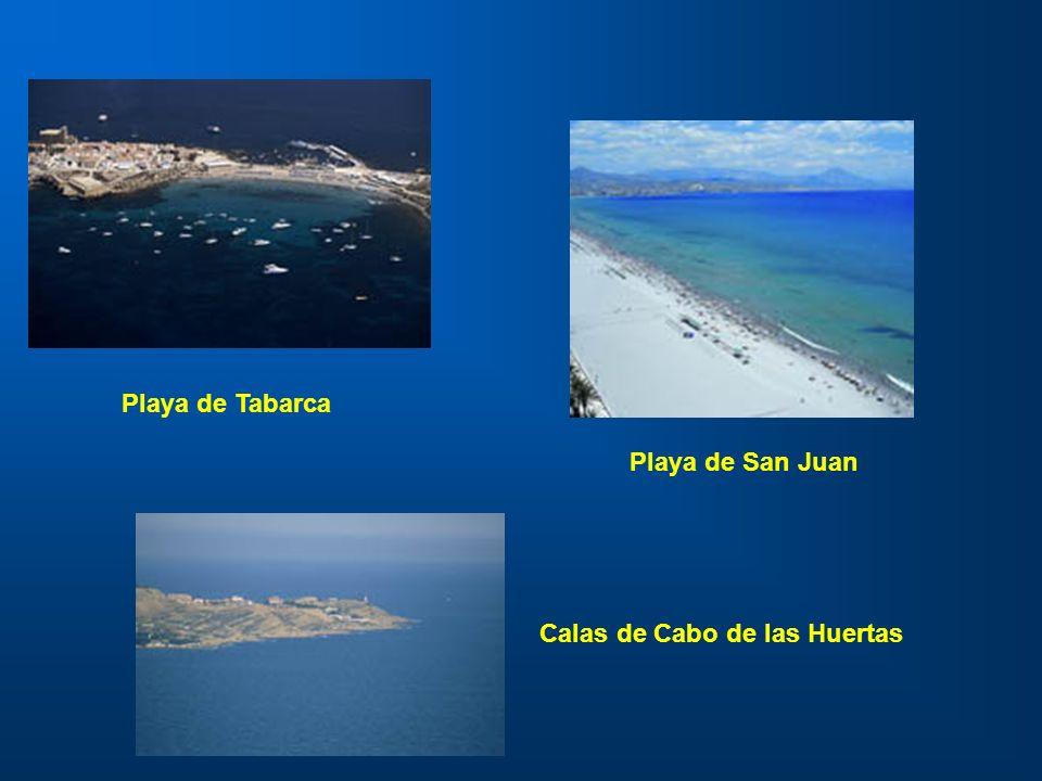 Playa de Tabarca Playa de San Juan Calas de Cabo de las Huertas