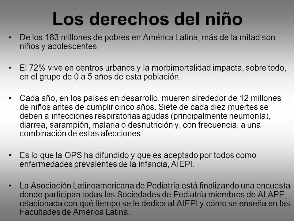 Los derechos del niño De los 183 millones de pobres en América Latina, más de la mitad son niños y adolescentes.