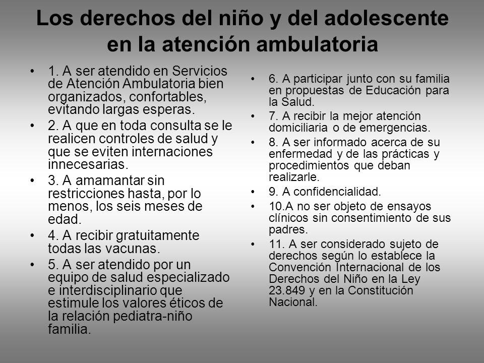 Los derechos del niño y del adolescente en la atención ambulatoria