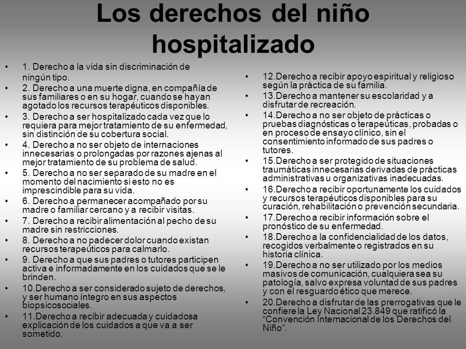 Los derechos del niño hospitalizado