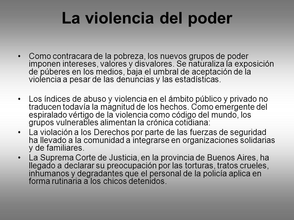 La violencia del poder