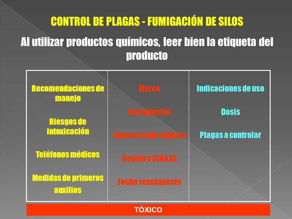 CONTROL DE PLAGAS - FUMIGACIÓN DE SILOS