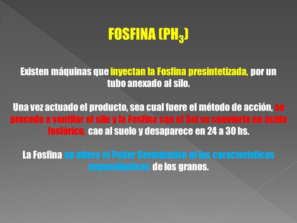 Existen máquinas que inyectan la Fosfina presintetizada, por un