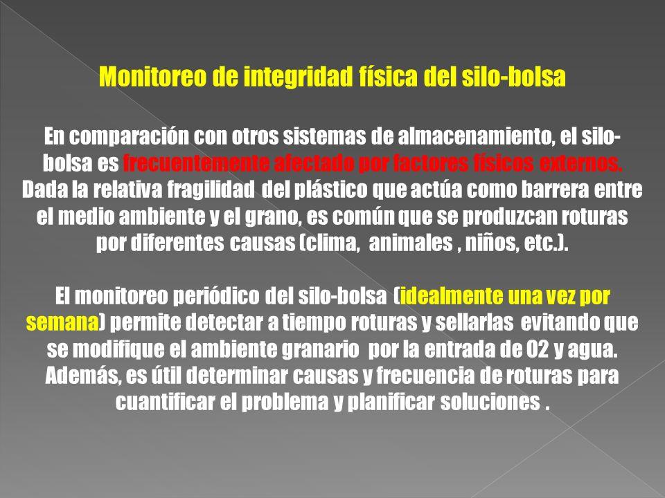 Monitoreo de integridad física del silo-bolsa
