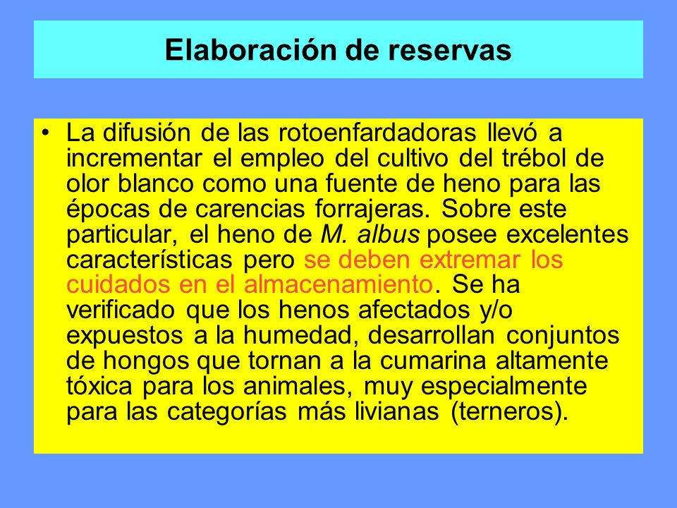Elaboración de reservas