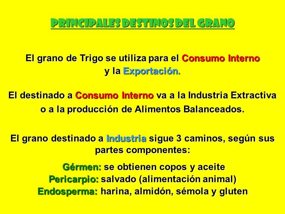 PRINCIPALES DESTINOS DEL GRANO