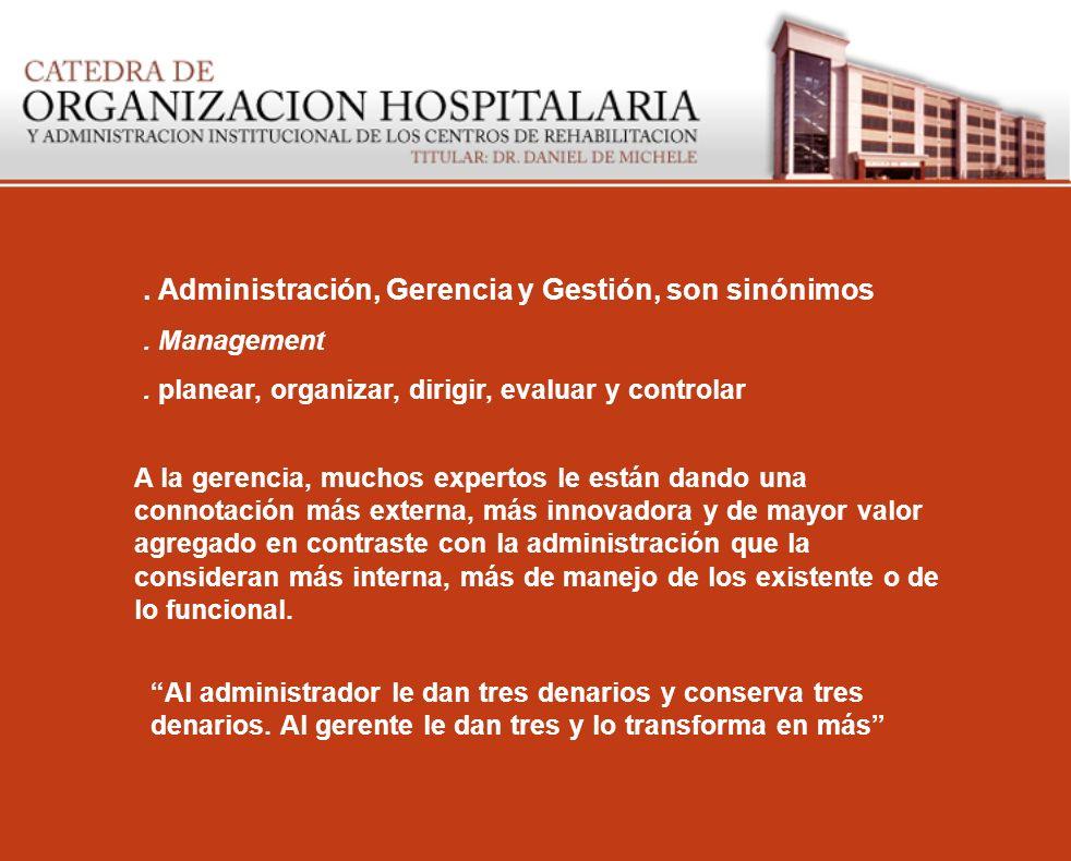 . Administración, Gerencia y Gestión, son sinónimos