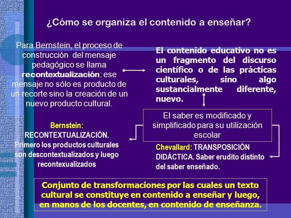 El saber es modificado y simplificado para su utilización escolar