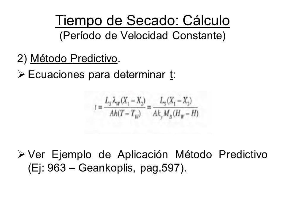 Tiempo de Secado: Cálculo (Período de Velocidad Constante)