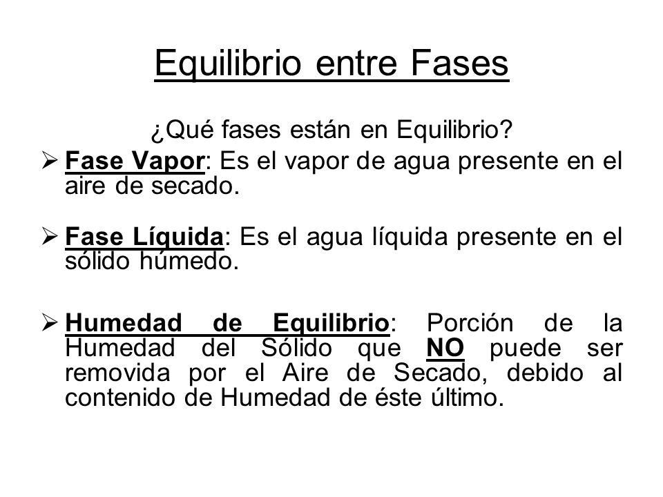 Equilibrio entre Fases