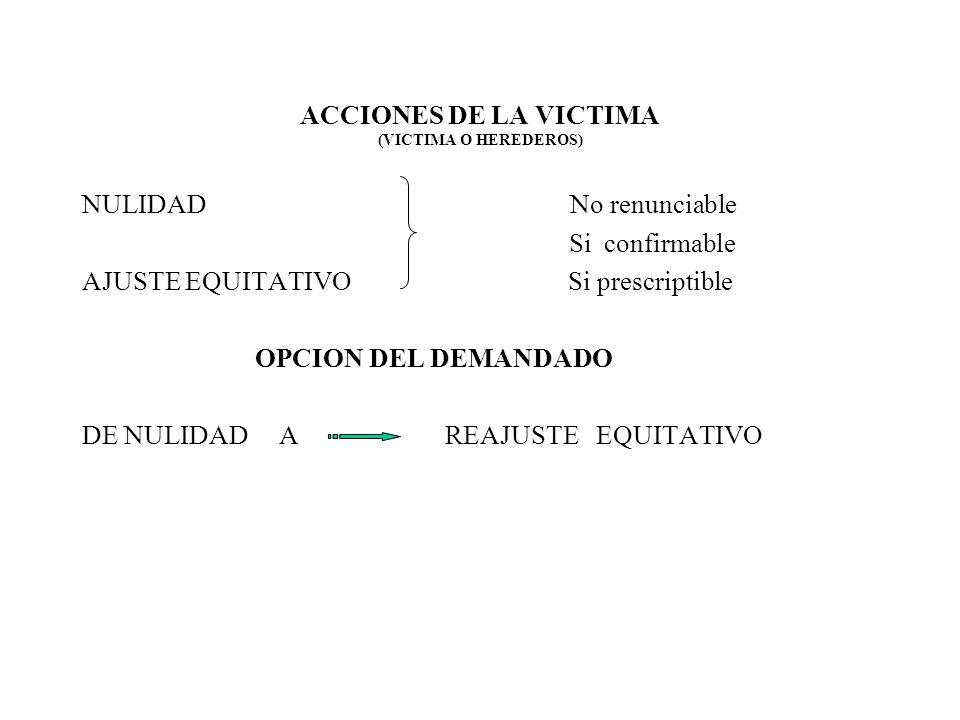 ACCIONES DE LA VICTIMA (VICTIMA O HEREDEROS)