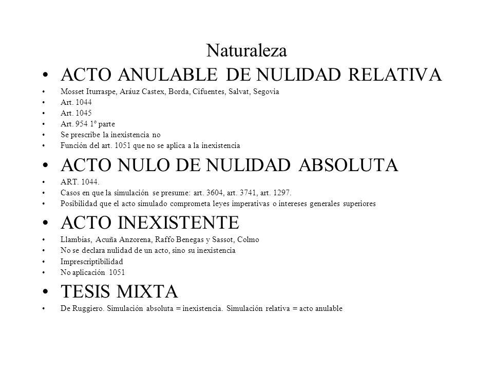 ACTO ANULABLE DE NULIDAD RELATIVA
