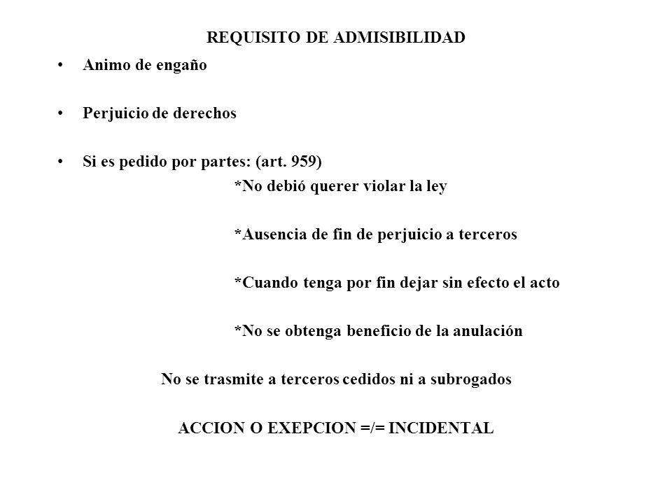REQUISITO DE ADMISIBILIDAD