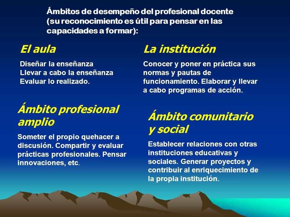 Ámbito profesional amplio Ámbito comunitario y social