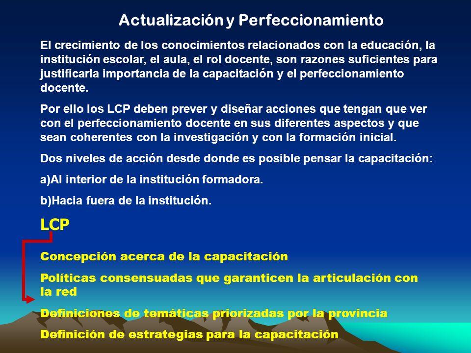 Actualización y Perfeccionamiento