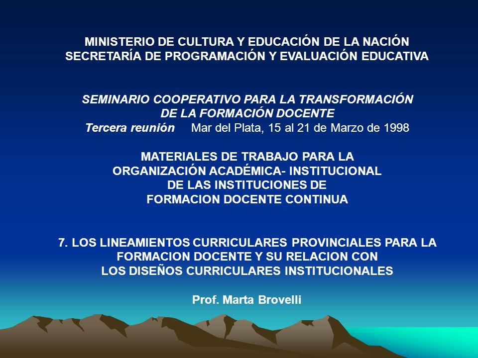 MINISTERIO DE CULTURA Y EDUCACIÓN DE LA NACIÓN
