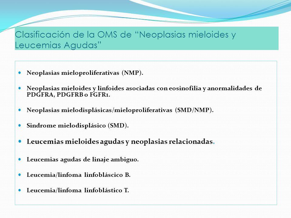 Clasificación de la OMS de Neoplasias mieloides y Leucemias Agudas