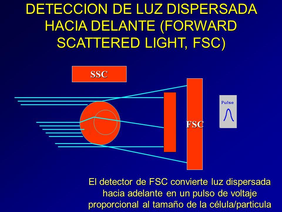 DETECCION DE LUZ DISPERSADA HACIA DELANTE (FORWARD SCATTERED LIGHT, FSC)