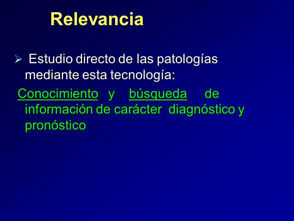 Relevancia Estudio directo de las patologías mediante esta tecnología: