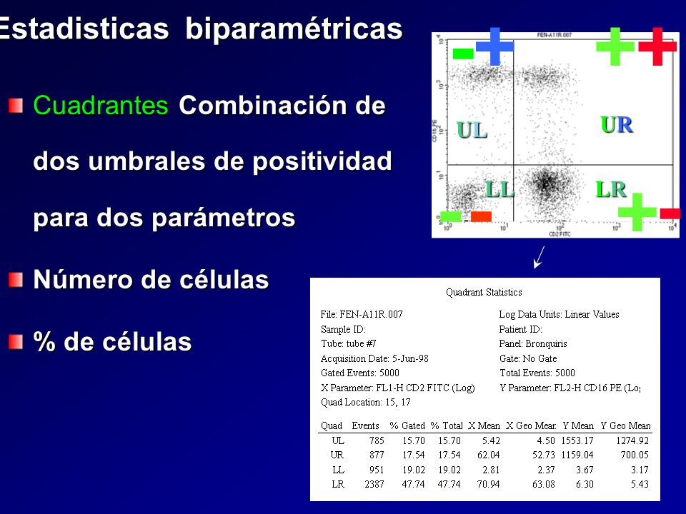 Estadisticas biparamétricas