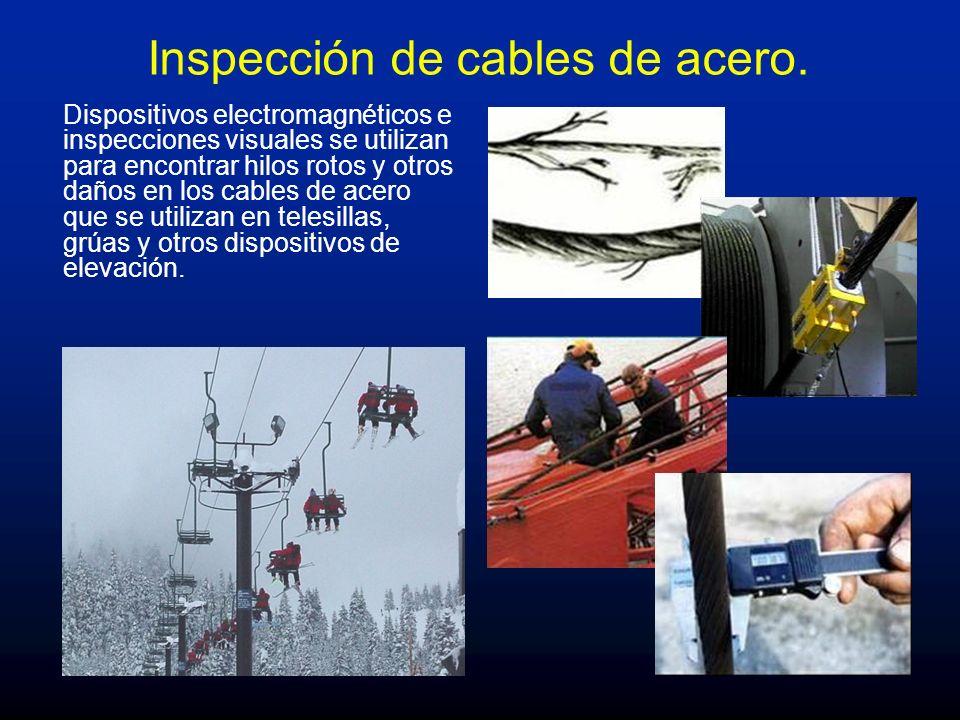 Inspección de cables de acero.