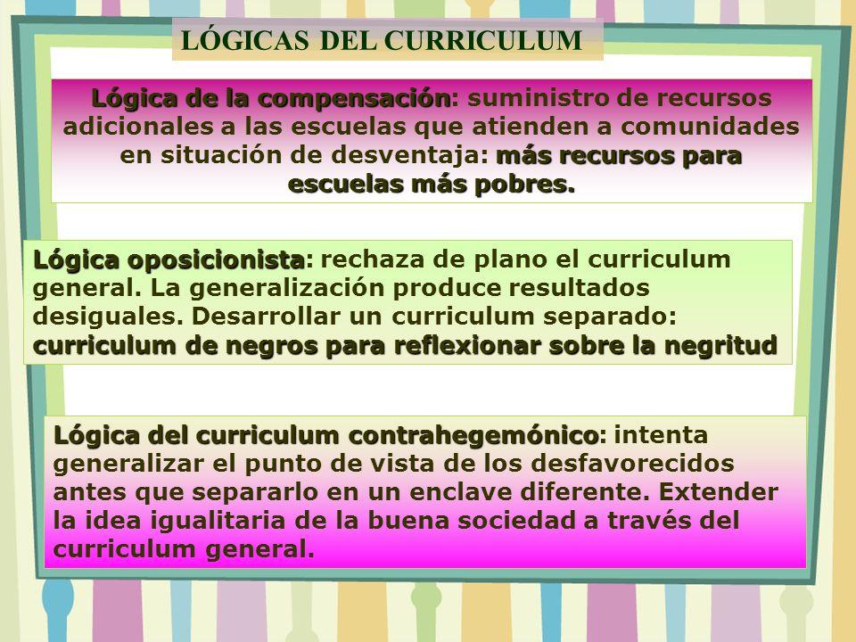 LÓGICAS DEL CURRICULUM